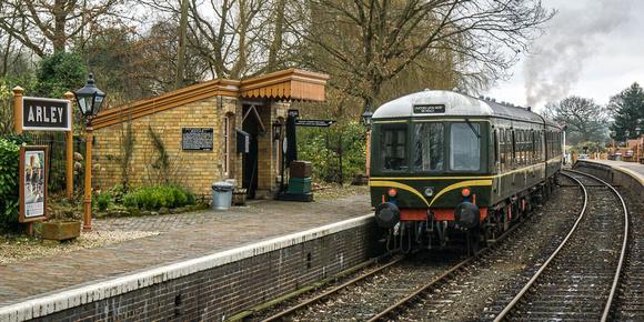 arley station photo severn valley railway diesel engine train