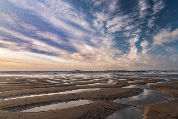 church bay sunset anglesey north wales beach porth swtan