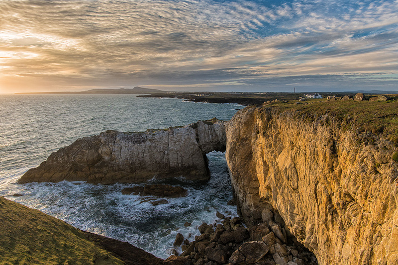 white arch rhoscolyn sunset photo anglesey