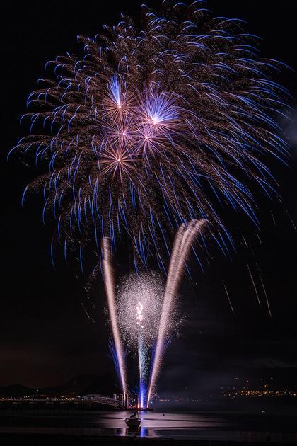 bonfire night fireworks beaumaris north wales anglesey photo