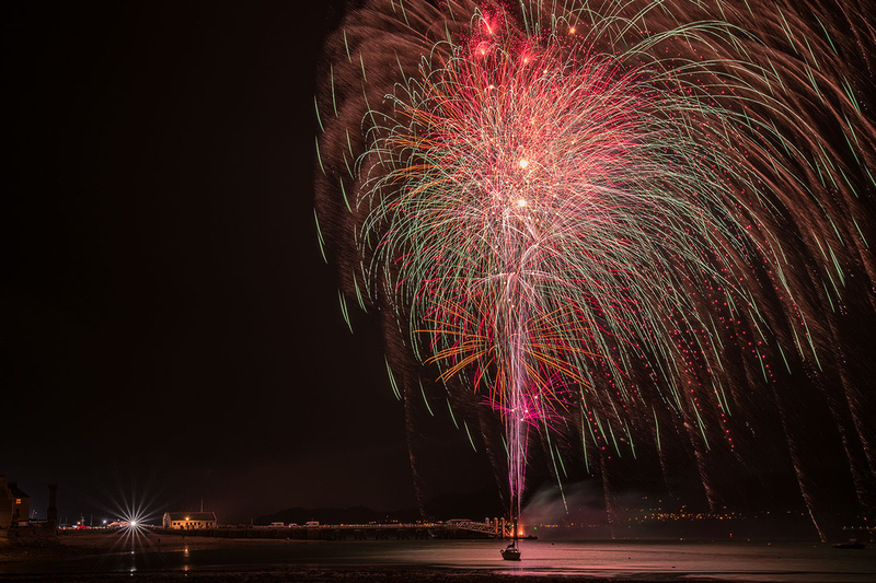 anglesey beaumaris fireworks display north wales photo