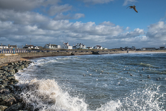 Trearddur Bay storm photo Anglesey North Wales
