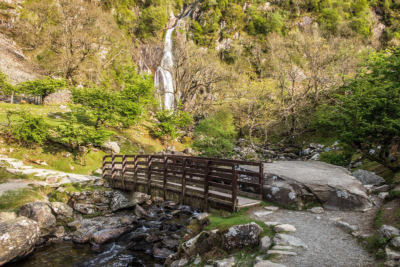 Aber Falls snowdonia waterfall afon goch north wales