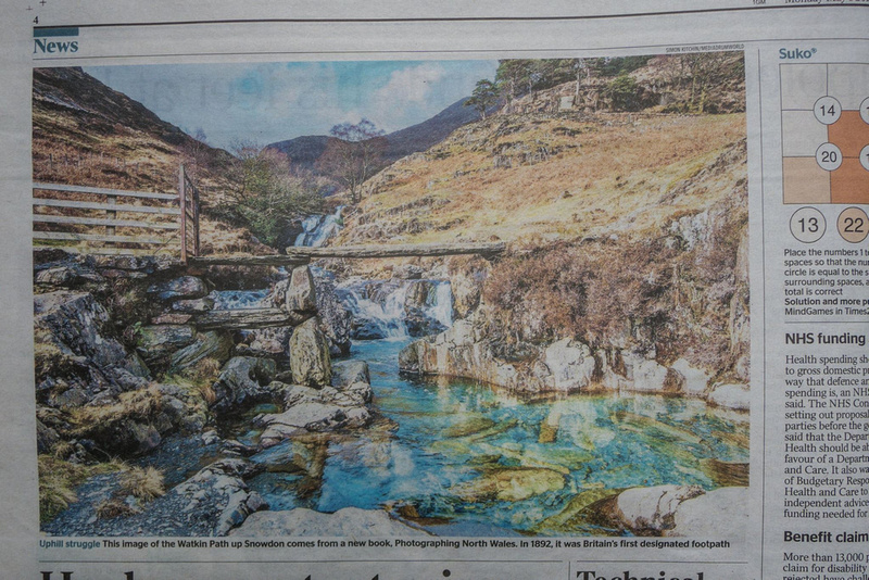 Watkin Path, printed by the Times Newspaper book Photographing North Wales Simon Kitchin