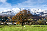 old man coniston autumn snow photo lake district mountain