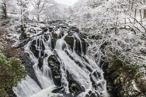 swallow falls betws y coedsnowdonia north wales winter snow