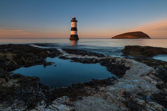 Penmon sunset photo anglesey north wales lighthouse beaumaris
