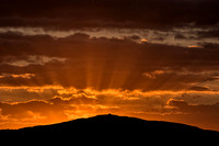 moel famau sunset photo sunburst mold north wales clwydian hills