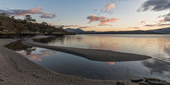 carreg wen beach borth y gest porthmadog north wales sunrise photo