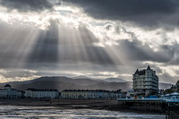 llandudno sunburst snowdonia photo north wales grand hotel