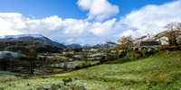 autumn snow little langdale photo lake district mountains