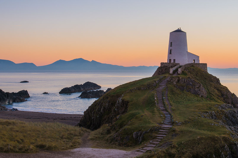 llanddwyn island anglesey sunset north wales photo lighthouse winter