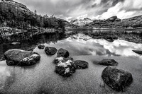 blea tarn photo langdale lake district snow autumn reflections