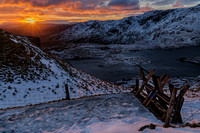 snowdon pyg track winter sunrise snow mountains snowdonia photo north wales