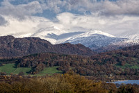coniston water photo langdale pikes snow autumn lake