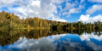 Tarn Hows reflections autumn lake district photo