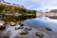 blea tarn reflections photo langdale pikes lake district