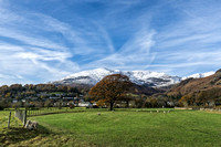 old man of coniston mountain snow autumn lake district photographs
