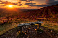 Moel Famau sunset clwydian range north wales heather summer